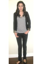 jeans - - shoes - Forever 21 blazer
