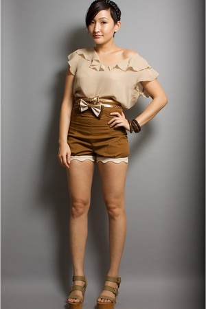 accessories - blouse - belt - neneee shorts - Pierre Hardy for Gap shoes