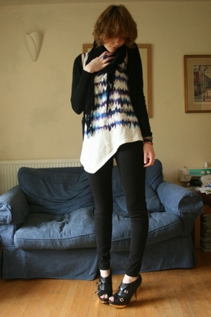 Zara t-shirt - aa - Gap - H&amp;M scarf - Faith shoes