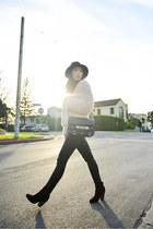 ivory Pac Sun coat - rag & bone boots - PROENZA SCHOULER bag