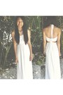 Ivory-chiffon-maxi-lulus-dress-silver-diamond-charming-charlies-necklace