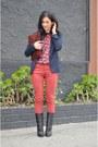 Black-giuseppe-zanotti-boots-brick-red-rag-bone-jeans-navy-zara-blazer