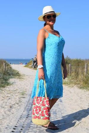 M&D watch - zalando dress - asos hat - H&M bag - Ray Ban sunglasses