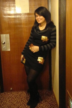 random dress - Vintage from Mom sweater - sm department store tights - HK store
