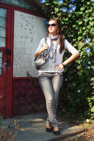 redherring top - unknown scarf - meli melo purse - Accessorize bracelet - Terran