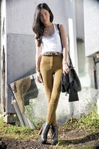 vintage belt - black Jeffrey Campbell shoes - brown Alexander Wang bag