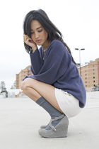 gray Jeffrey Campbell shoes - vintage country road jacket