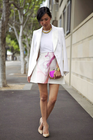 bubble gum Michael Lo Sordo skirt - ivory Michael Lo Sordo jacket