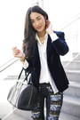 Black-marcs-bag-navy-style-stalker-blazer-white-zara-shirt-black-aje-pants