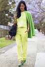 Chartreuse-karla-spetic-jacket-black-see-by-chloe-bag