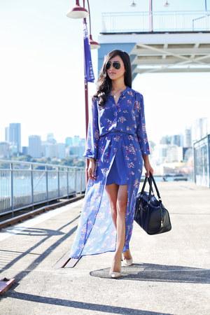blue Something Else skirt - black Marcs bag - black Ray Ban sunglasses