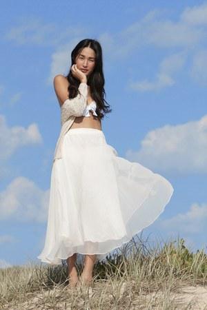 light pink Miu Miu swimwear - white gary pepper vintage skirt - beige Toi et Moi