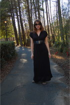 black maxi dress dress - black half tint Knock Off sunglasses