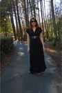 Black-maxi-dress-dress-black-half-tint-knock-off-sunglasses