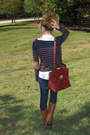 White-collared-forever-21-shirt-tawny-boots-navy-forever-21-sweater
