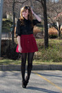 Black-wal-mart-tights-black-headband-leah-larue-accessories