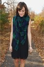 Black-jeffrey-campbell-boots-black-zara-dress-forest-green-plaid-zara-scarf