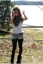 American Eagle scarf - hollister top - Hot Topic belt - abercrombie and fitch sh