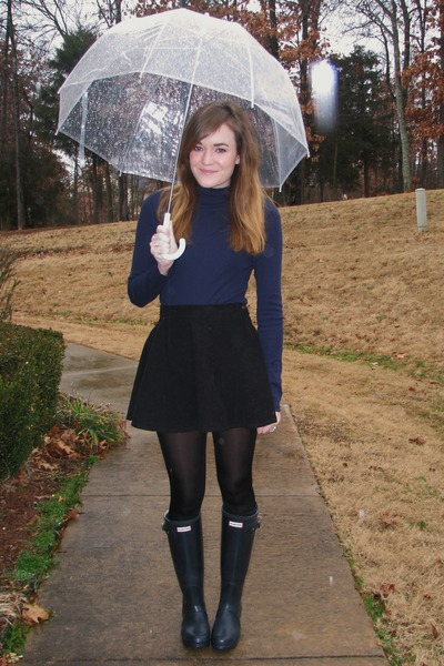 navy rain-boots Hunter boots - black wal-mart tights
