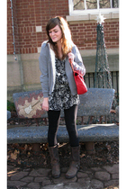 eVanity jacket - boutique dress - Forever21 leggings - Frye boots - boutique pur