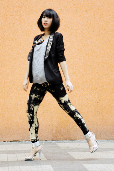 Tango blazer - Topshop top - glasnost leggings - shoes