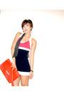 Navy-pearl-h-m-earrings-red-zara-bag-red-knitted-dress-forever21-heels
