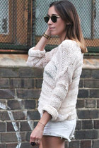 light pink open weave knit Topshop jumper