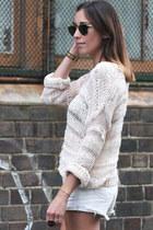 light pink open weave knit Topshop jumper