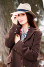 Brown-cashmere-coat-beige-wool-asos-hat