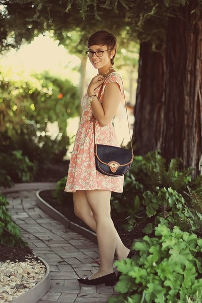 Dahlia dress - vintage purse - thrifted heels