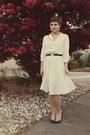 Flea-market-dress-thrifted-heels-goodwill-belt