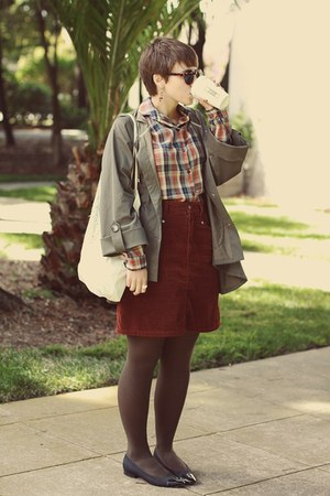vintage skirt - H&M sunglasses - vintage blouse