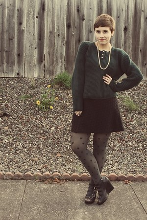 Hot Topic dress - thrifted sweater - kohls wedges