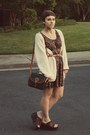 Goodwill-dress-dooney-burke-vintage-purse-goodwill-cardigan-goodwill-wed