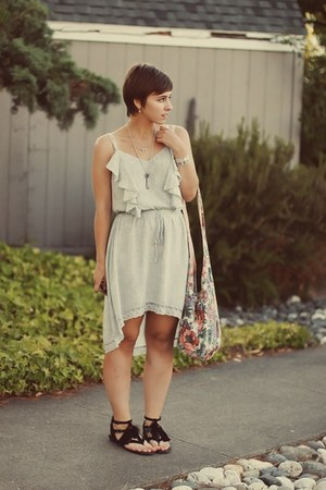 Sugarlips dress - thrifted purse - Target sandals