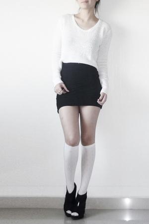 sweater - socks - skirt - shoes