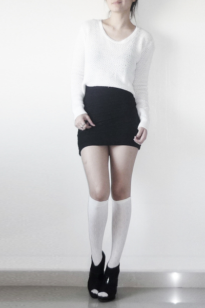sweater - socks - skirt - shoes