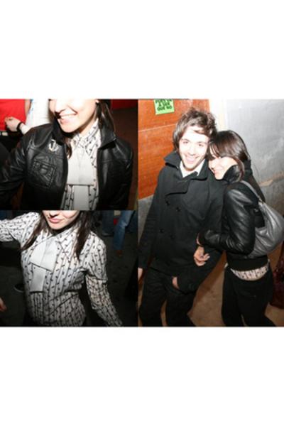 tie - vintage blouse - Bershka pants - H&M jacket