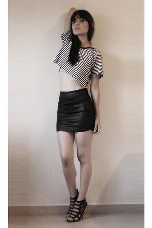 American Apparel skirt - thrift t-shirt - Eres shoes