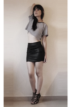 American Apparel skirt - thrift t-shirt - Eres shoes