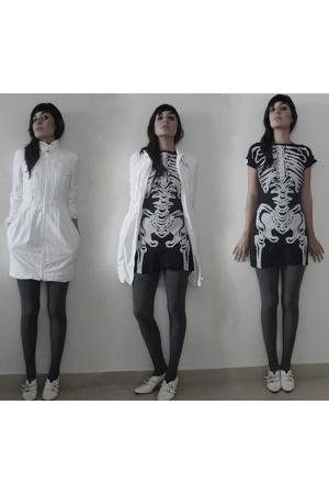 thrift dress - armani jacket - - shoes