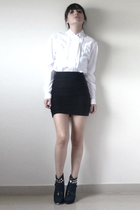 skirt - blouse - boots