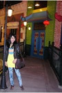 Black-jacket-yellow-graniph-t-shirt-blue-gaudi-jeans-brown-belle-shoes-b