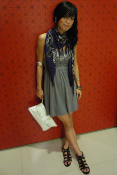 H&amp;M scarf - Forever21 dress - GoJane shoes - Montip purse