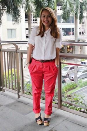 Zara pants - Forever 21 top - CMG wedges