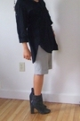 Black Tunic French Connection Tops Gray Nine West Shoes
