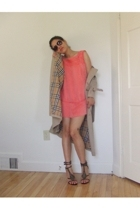 beige trench coat Burberry jacket - black sam edelman shoes