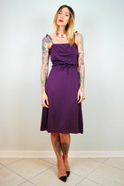 deep purple noirohio vintage dress