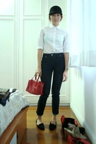 Topshop shirt - Topshop jeans - Costume National shoes - YSL purse - crossings h
