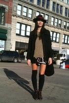thrifted vintage boots - wool vintage from SF hat - utilitarian H&M jacket - thr